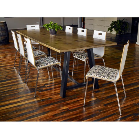 KFI Midtown 30in H Conference Table with 42in D Solid Wood Top