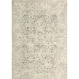 "Alberta Silver Transitional  Area Rug - 7'6"" x 9'6"""