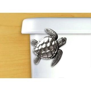 Functional Fine Art Satin Pewter Sea Turtle Toilet Front Tank Mount Handle