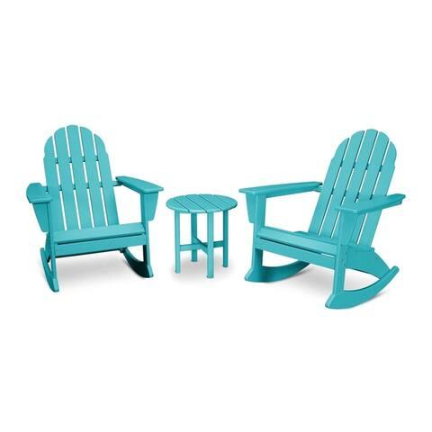 POLYWOOD Vineyard 3-piece Outdoor Adirondack Chair Set