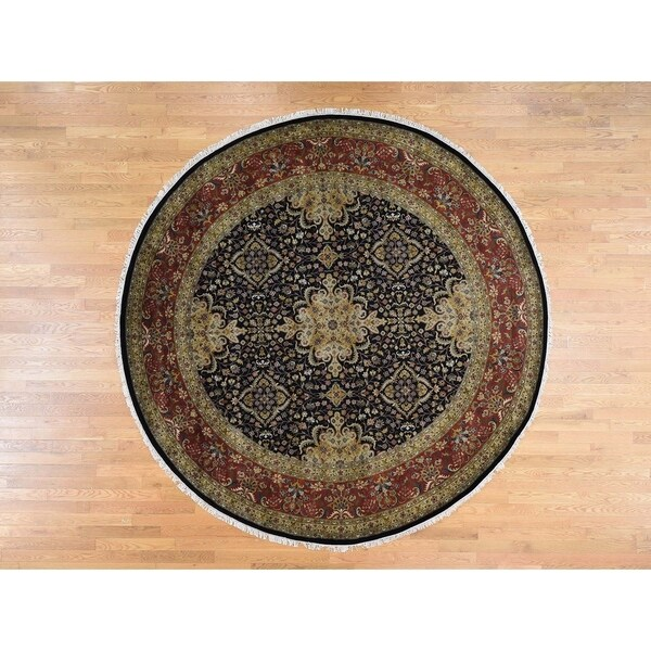 Shop Persian Oriental New Zealand Wool Area Rug: Shop Hand Knotted Black Fine Oriental With New Zealand