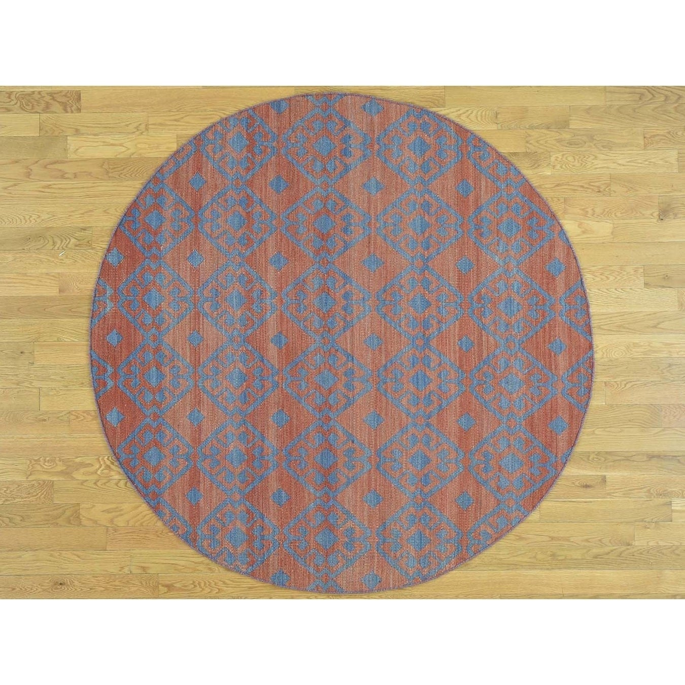Hand Knotted Red Flat Weave with Wool Oriental Rug - 59 x 510