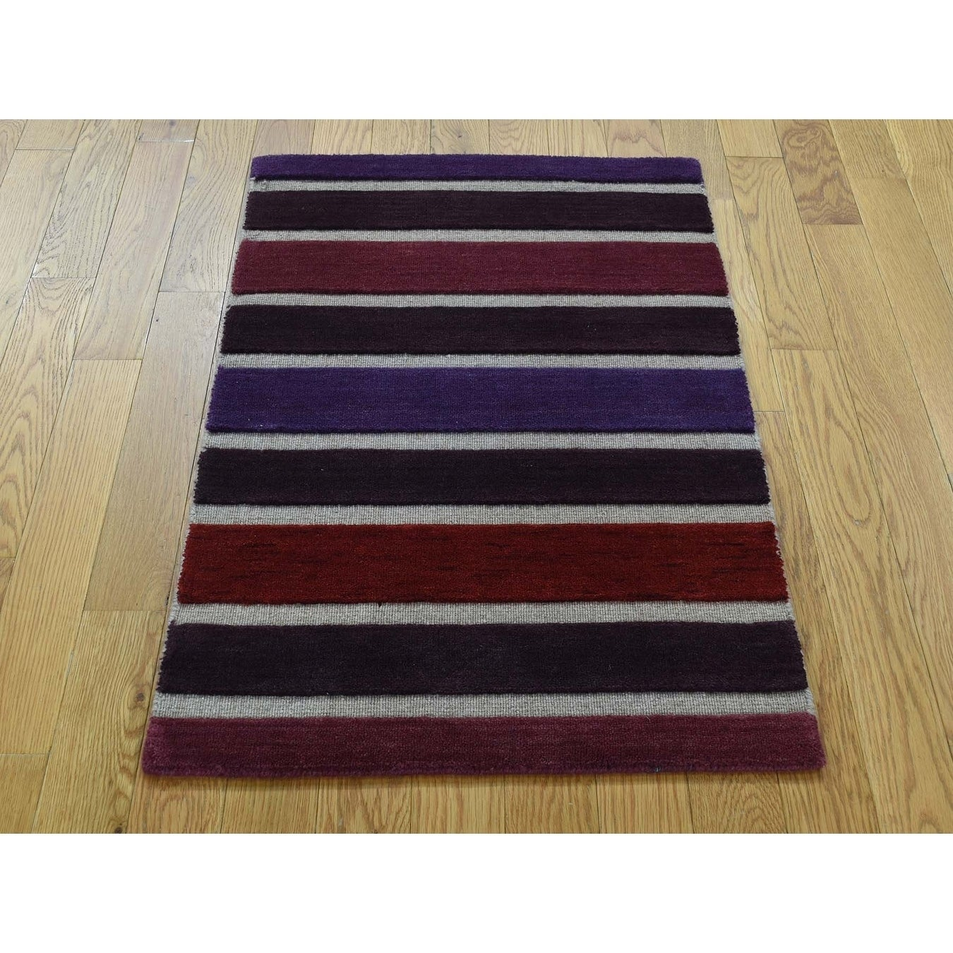 Hand Knotted Multicolored Hand-Loomed with Wool Oriental Rug - 2 x 3