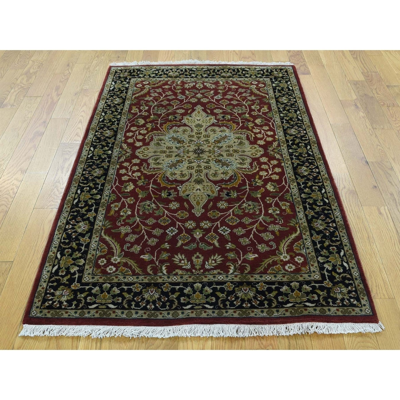 Hand Knotted Red Persian with New Zealand Wool Oriental Rug - 3 x 5