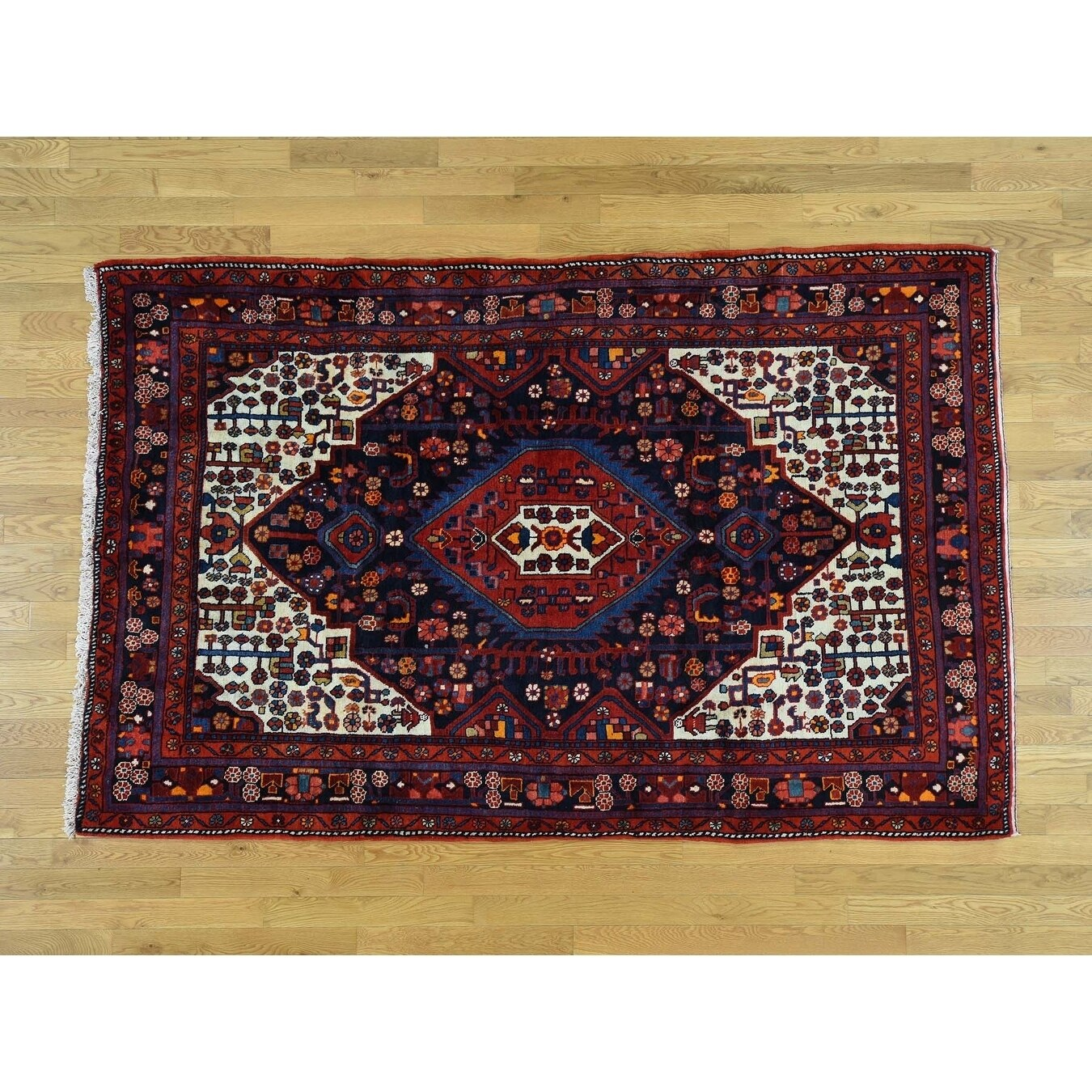 Hand Knotted Black Persian with Wool Oriental Rug - 56 x 85