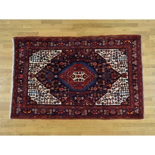 Hand Knotted Black Persian with Wool Oriental Rug - 5'6 x 8'5