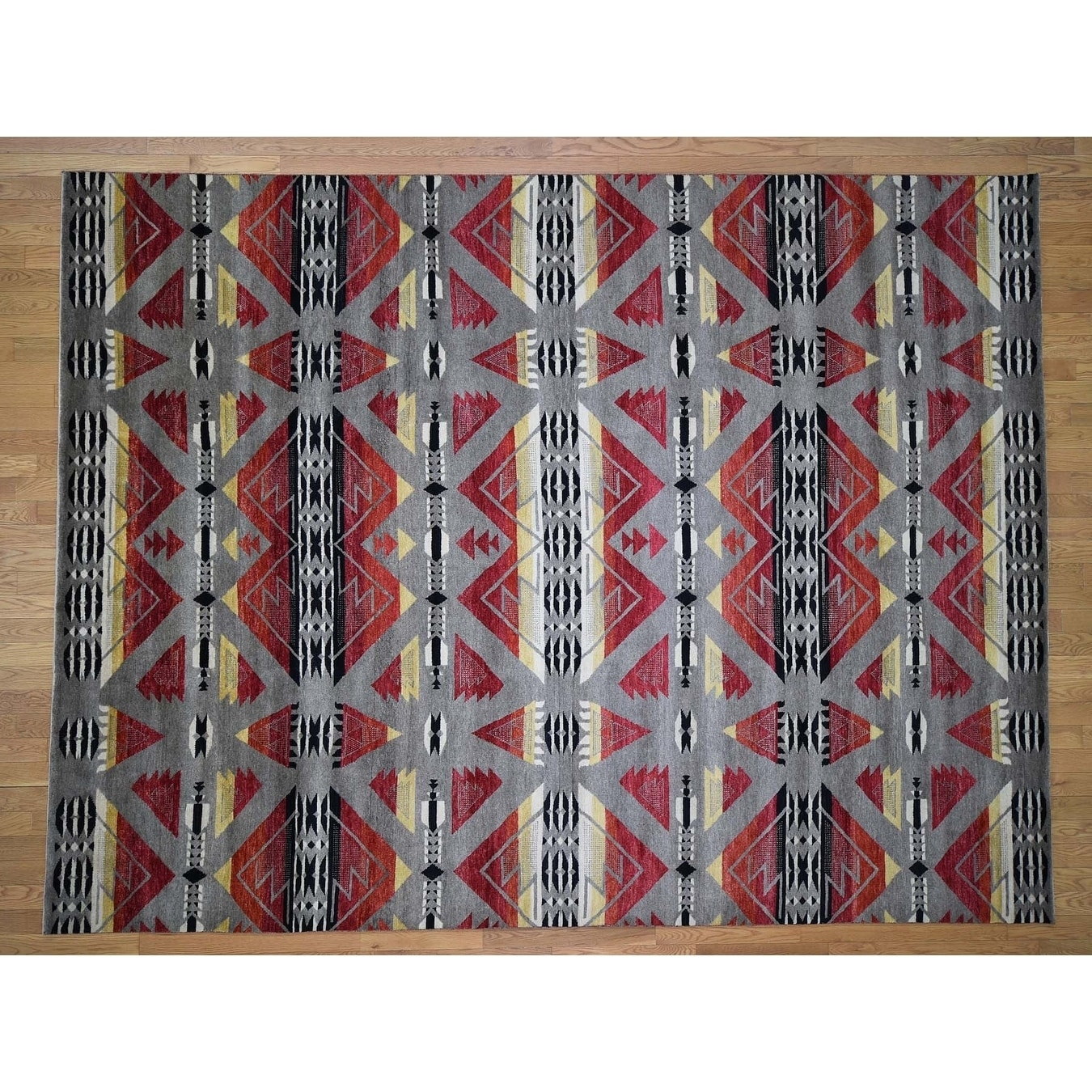 Hand Knotted Grey Fine Oriental with Wool Oriental Rug - 810 x 117