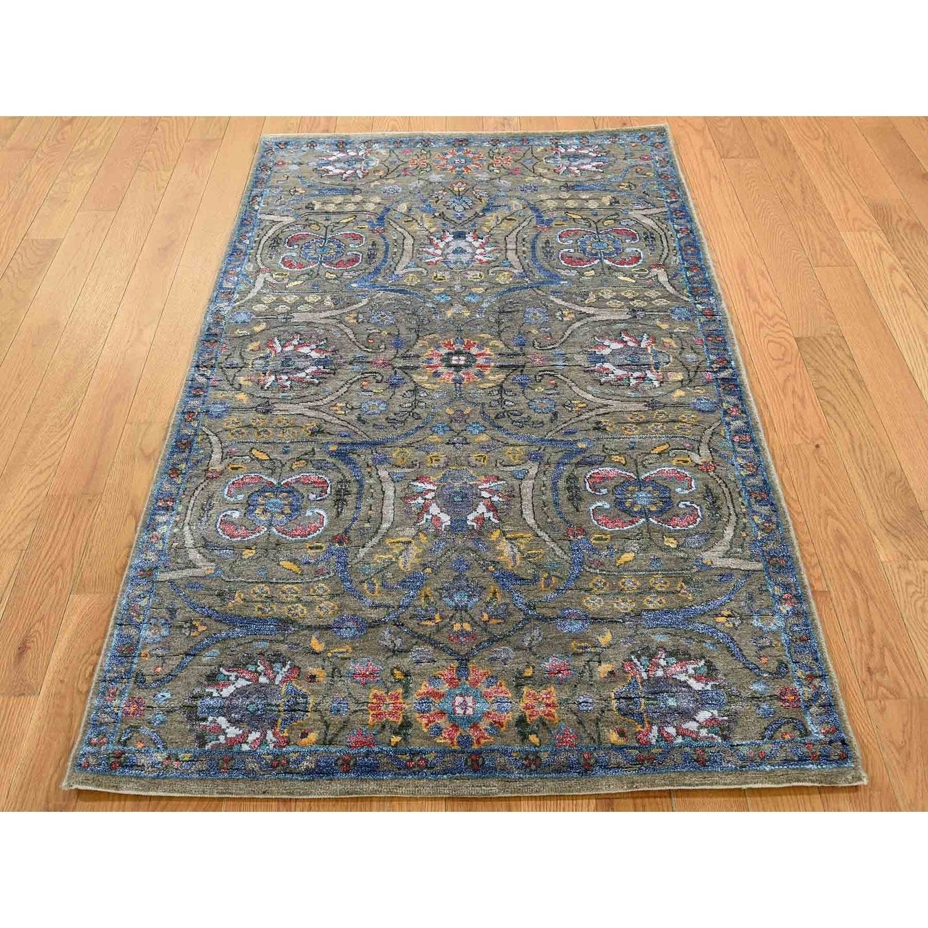Hand Knotted Brown Fine Oriental with Wool Oriental Rug - 3 x 51