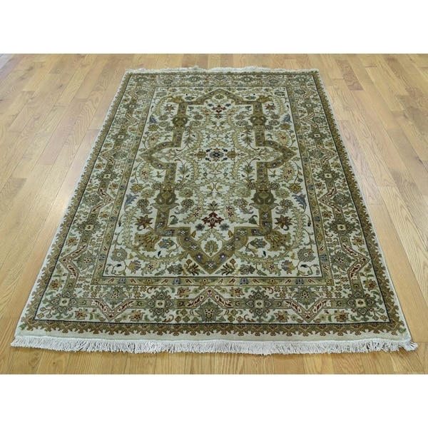 Shop Persian Oriental New Zealand Wool Area Rug: Shop Hand Knotted Ivory Fine Oriental With New Zealand