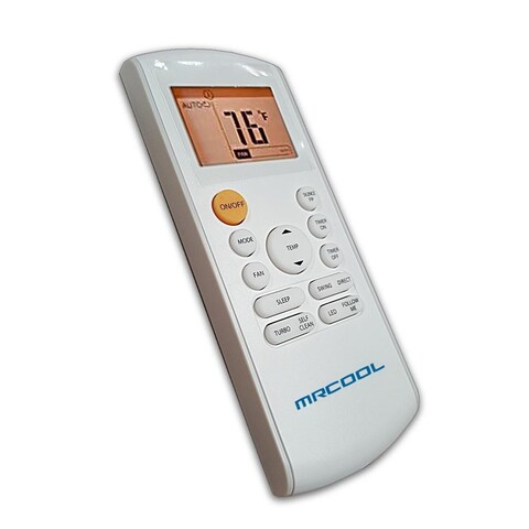 MRCOOL Replacement Remote for DIY Mini Split Systems - White