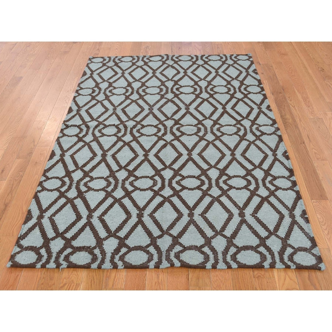 Hand Knotted Grey Clearance with Wool Oriental Rug - 42 x 510