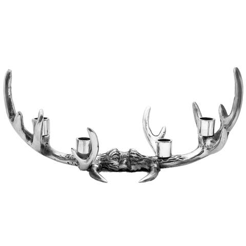 12-Point Antler Aluminum Candle Holder