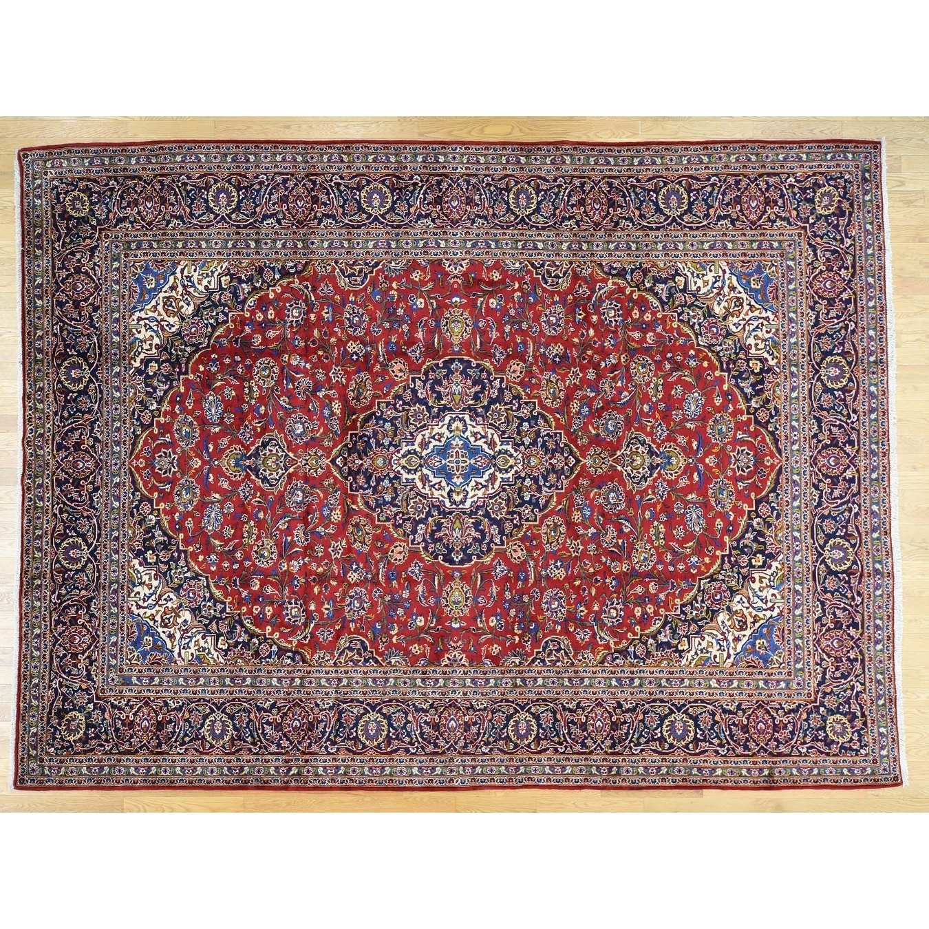 Hand Knotted Red Persian with Wool Oriental Rug - 10 x 134