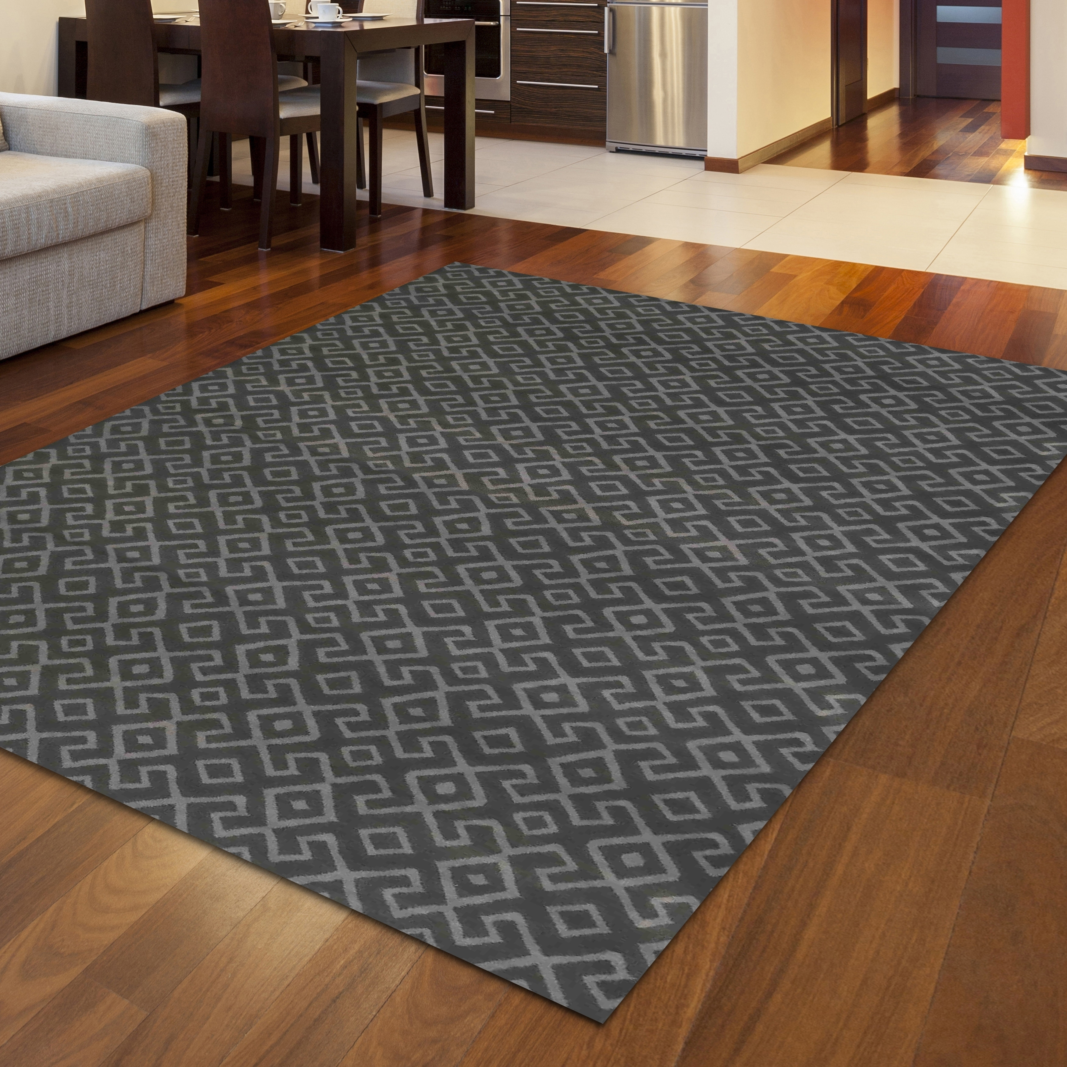 Bronte Disc Area Rug - 710 x 106 (710 x 106 - Grey)