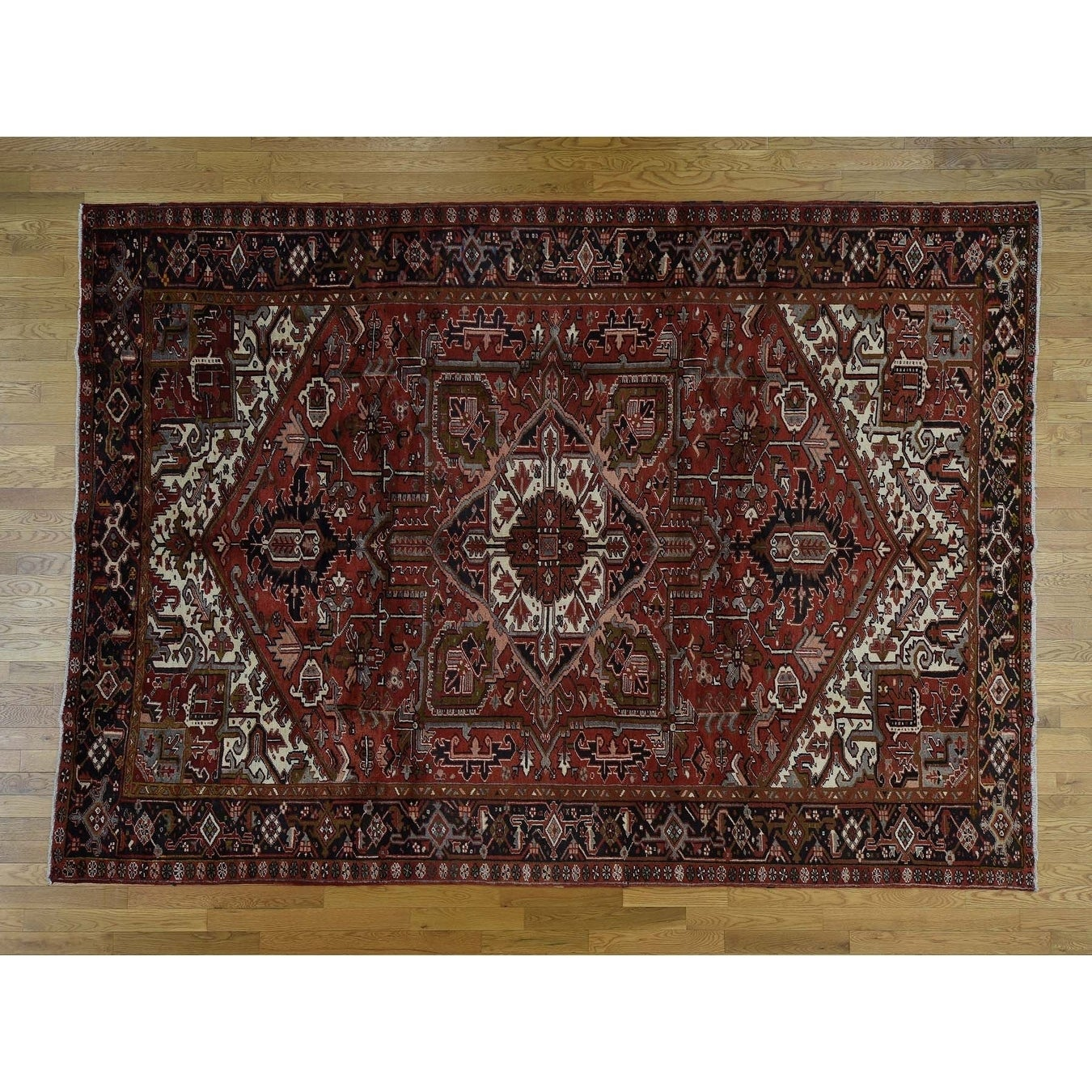 Hand Knotted Red Antique with Wool Oriental Rug - 88 x 121