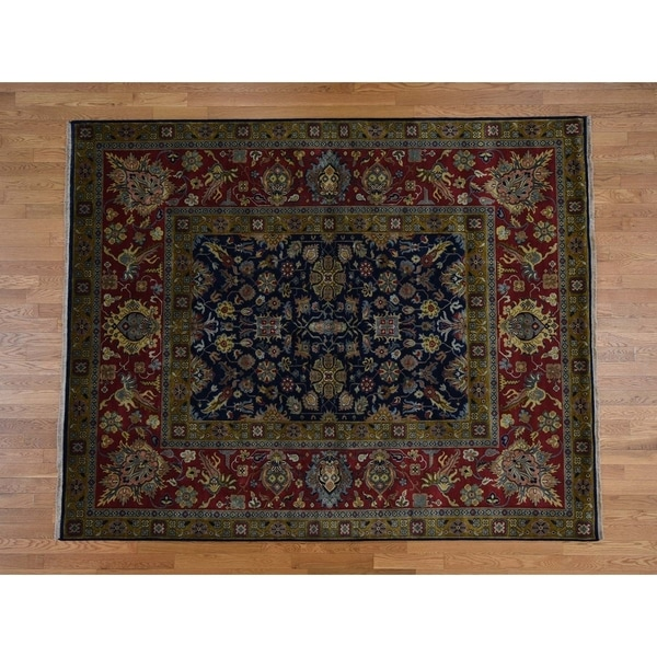Shop Persian Oriental New Zealand Wool Area Rug: Shop Hand Knotted Blue Fine Oriental With New Zealand Wool