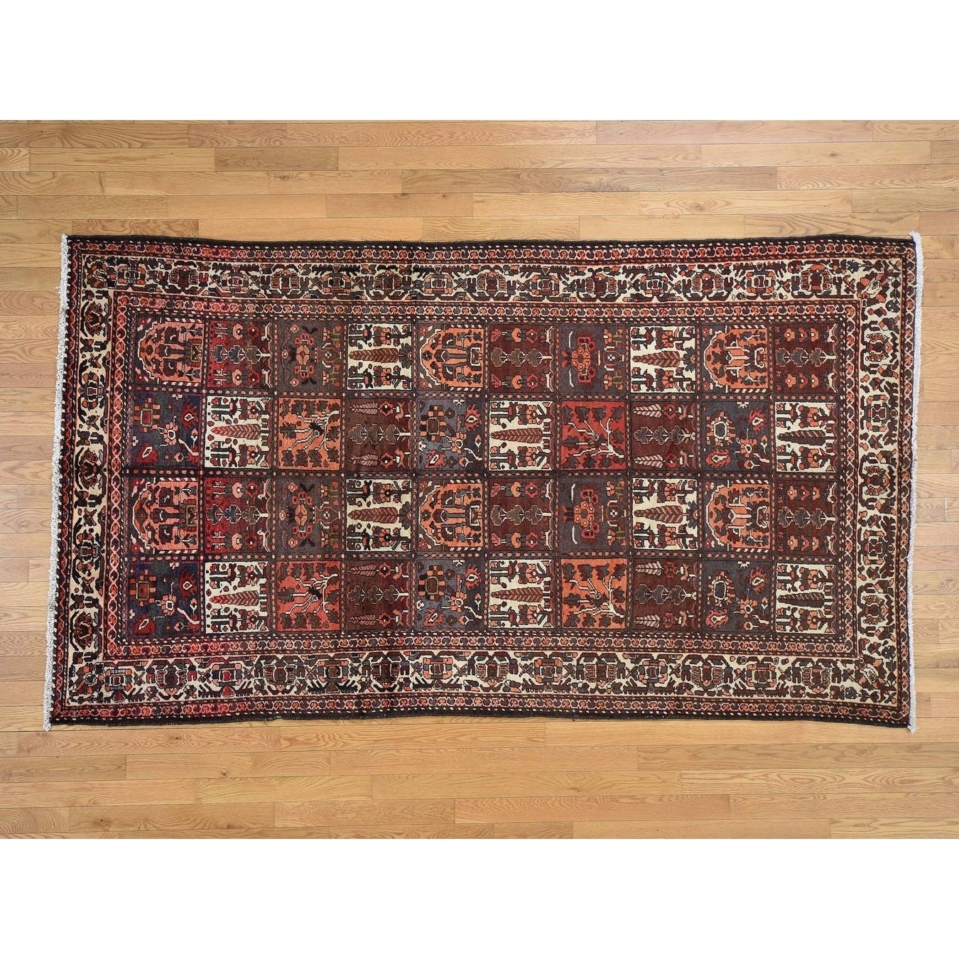 Hand Knotted Orange Persian with Wool Oriental Rug - 56 x 97