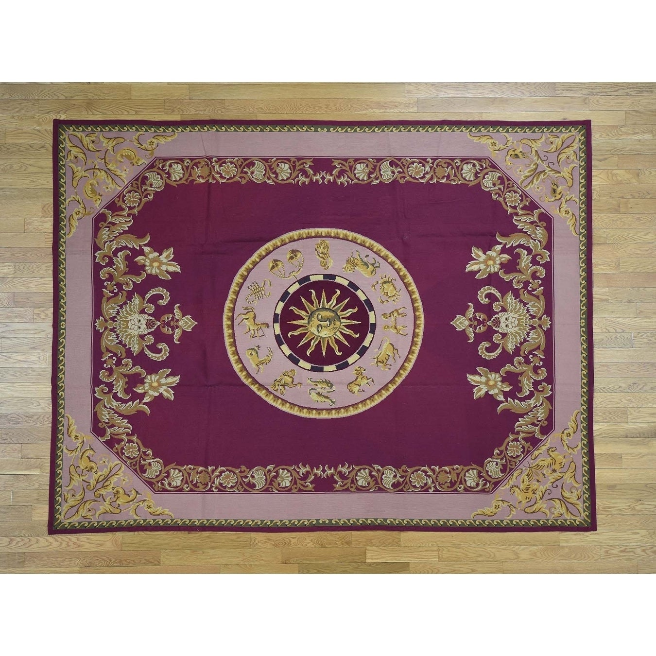 Hand Knotted Purple Clearance with Wool Oriental Rug - 76 x 910