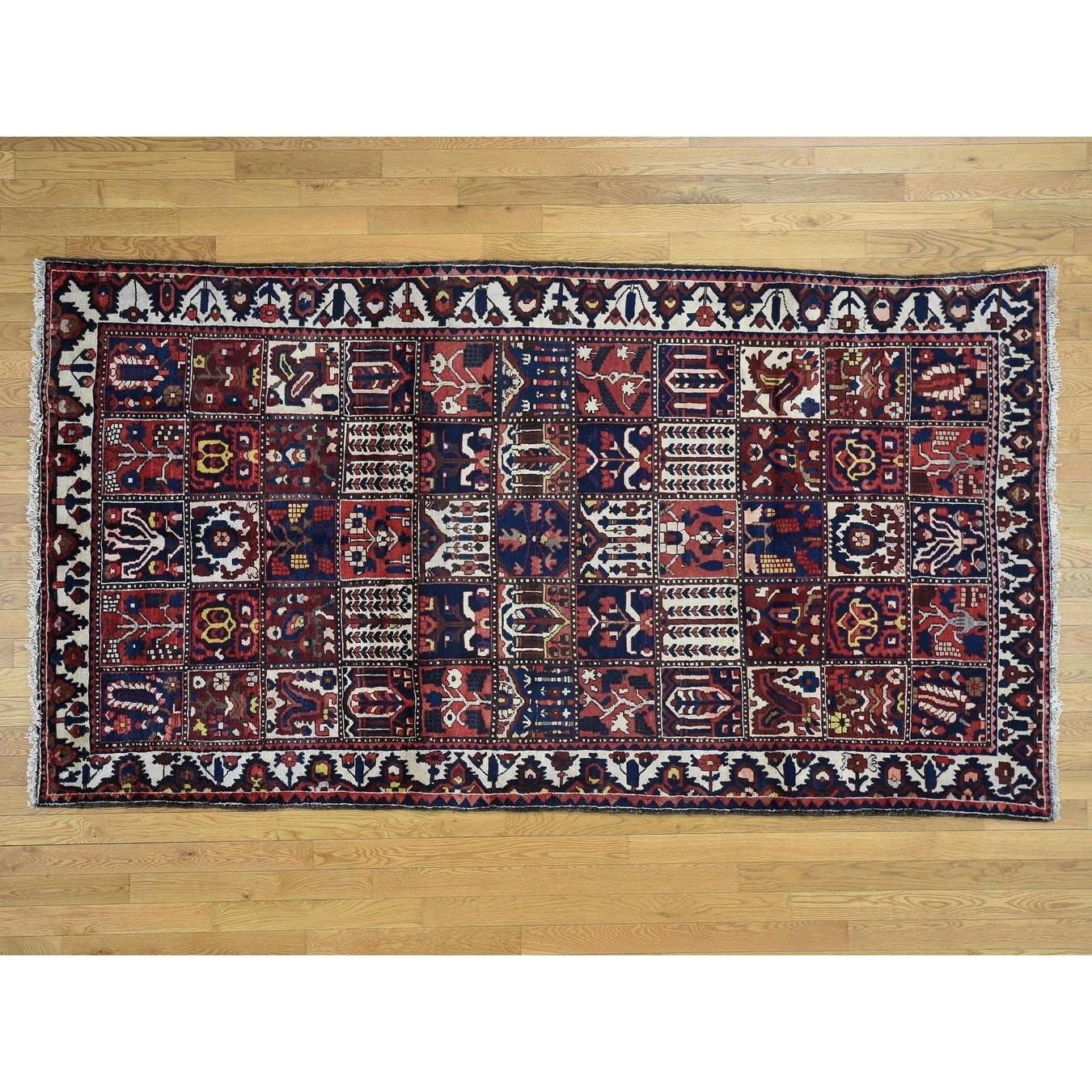 Hand Knotted Red Persian with Wool Oriental Rug - 52 x 96