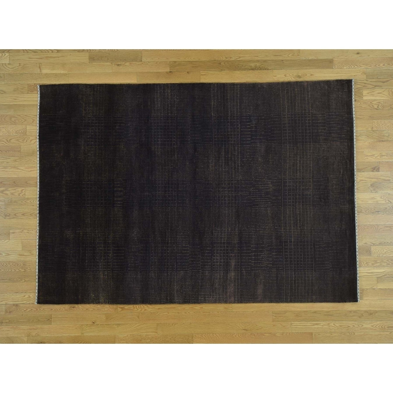 Hand Knotted Brown Clearance with Wool & Silk Oriental Rug - 59 x 83