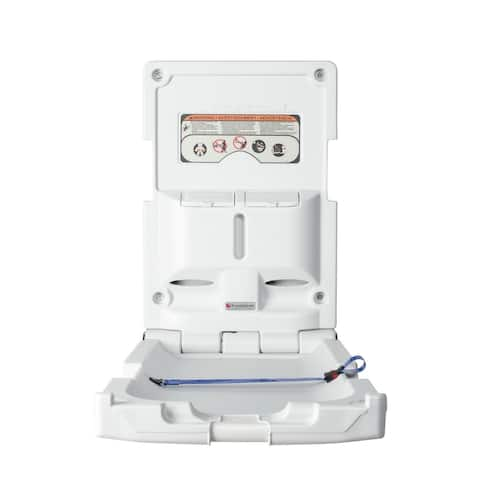 Foundations Standard Changing Station with Vertical Surface Mount (EZ Mount backer plate NOT included) - Light Gray