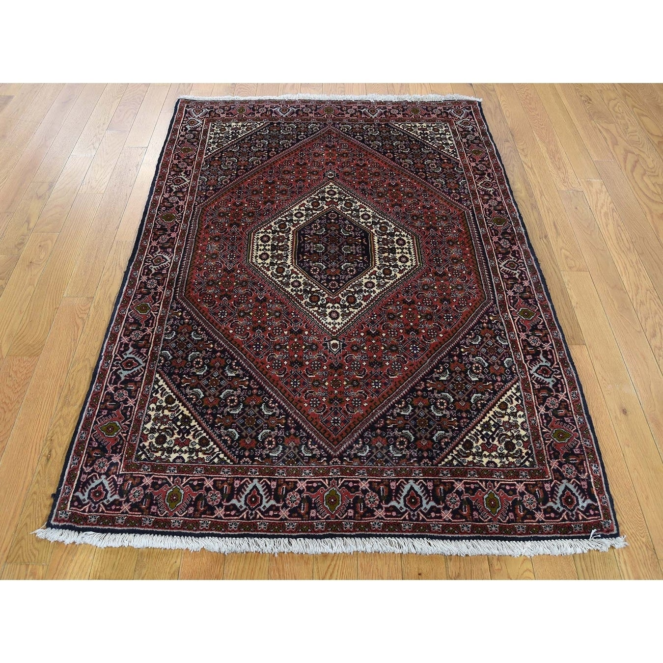 Hand Knotted Red Fine Oriental with Wool Oriental Rug - 38 x 55