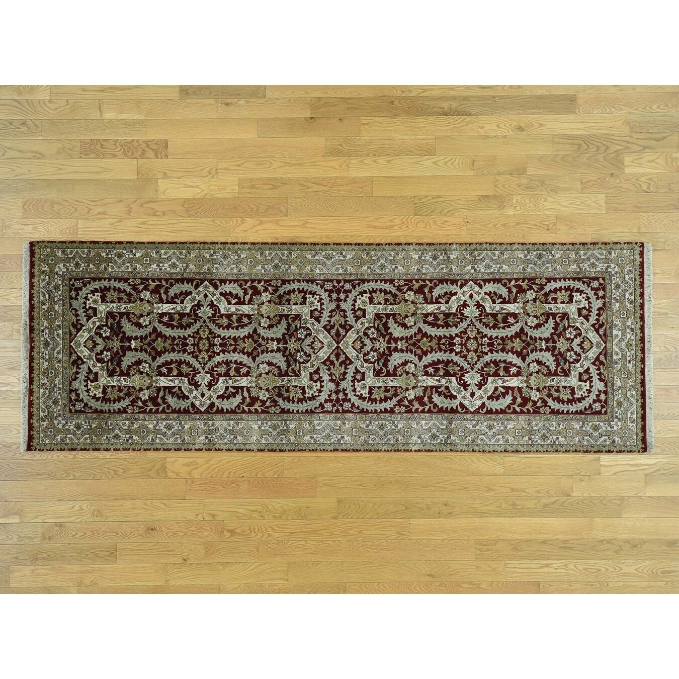 Hand Knotted Red Persian with New Zealand Wool Oriental Rug