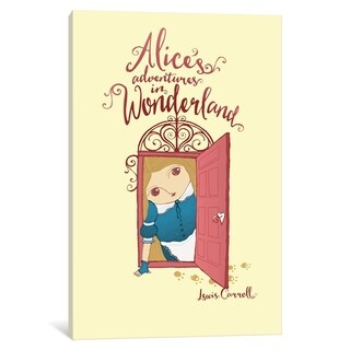 """iCanvas """"Alice's Adventures In Wonderland By Roberto Lanznaster"""" by Creative Action Network Canvas Print (More options available)"""