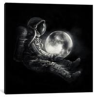 "iCanvas ""MoonPlay"" by Nicebleed Canvas Print"