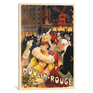 """iCanvas """"Le Moulin Rouge Advertisement, 1900"""" by E. Paul Villefroy Canvas Print"""