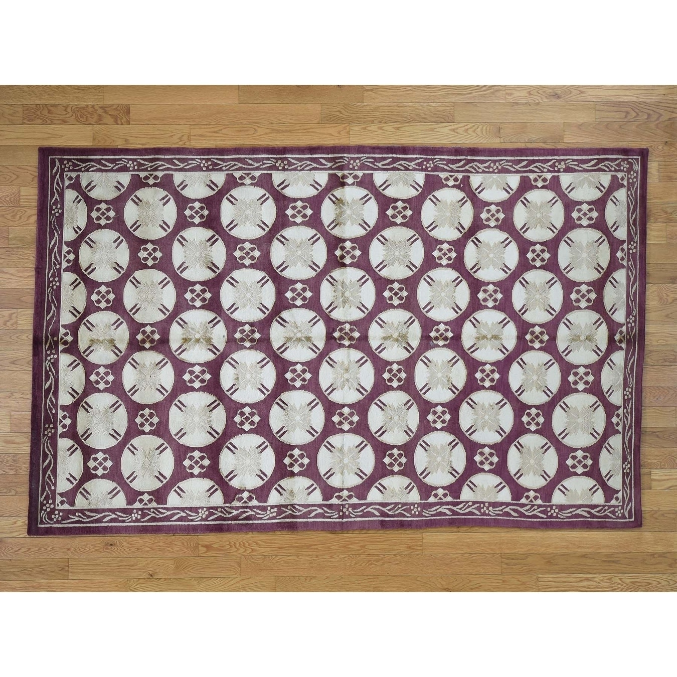 Hand Knotted Red Clearance with Wool Oriental Rug - 5 x 81