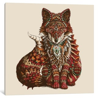 """iCanvas """"Red Fox In Color I"""" by BIOWORKZ Canvas Print"""