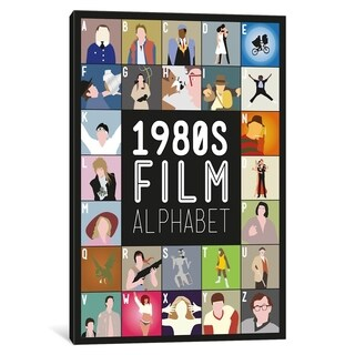 "iCanvas ""1980s Film Alphabet"" by Stephen Wildish Canvas Print"