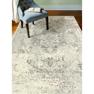"""Digna Ivory/Grey Transitional  Area Rug - 7'6"""" x 9'6"""""""