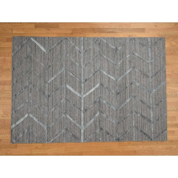 Modern Silk Rug: Shop Hand Knotted Grey Modern & Contemporary With Wool