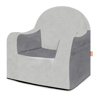 P'kolino Little Reader Grey Slip Cover Chair