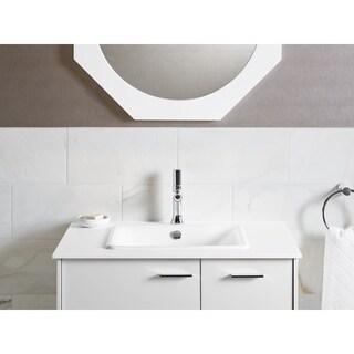 Kohler Iron Plains White Rectangular Bathroom Sink