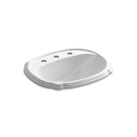 Portrait 8-inch Widespread Faucet Holes Drop-in Bathroom Sink