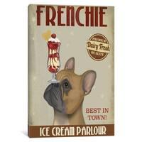 "iCanvas ""French Bulldog Ice Cream"" by Fab Funky Canvas Print"