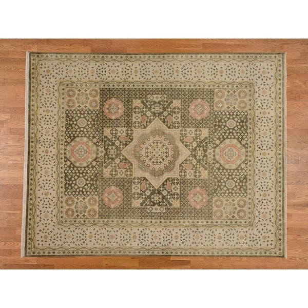 Shop Hand Knotted Green Mamluk With Wool Oriental Rug 8 X 10
