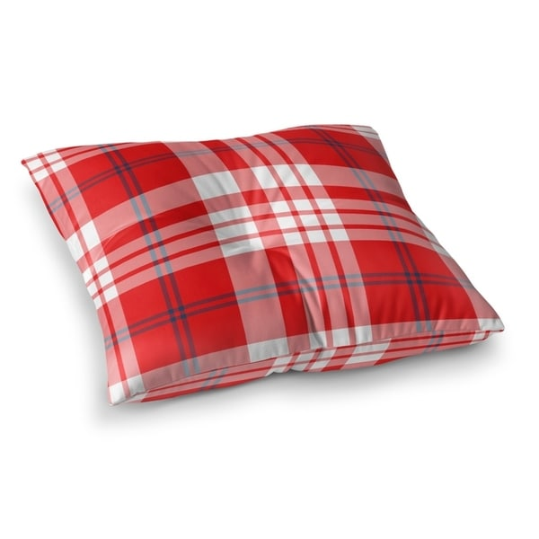 4th Of July Plaid Floor Pillow By Northern Whimsy Free Shipping