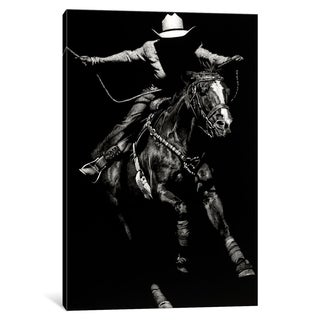 """iCanvas """"Scratchboard Rodeo III"""" by Julie T. Chapman Canvas Print (More options available)"""