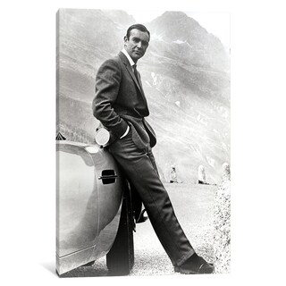 """iCanvas """"Sean Connery Leaning On A Car In Goldfinger"""" by MSN Canvas Print"""