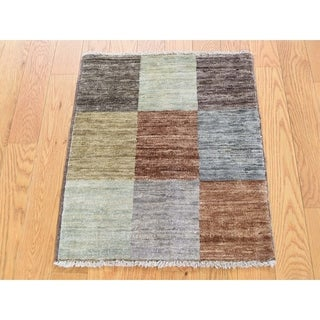 Hand Knotted Multicolored Modern & Contemporary with Wool Oriental Rug