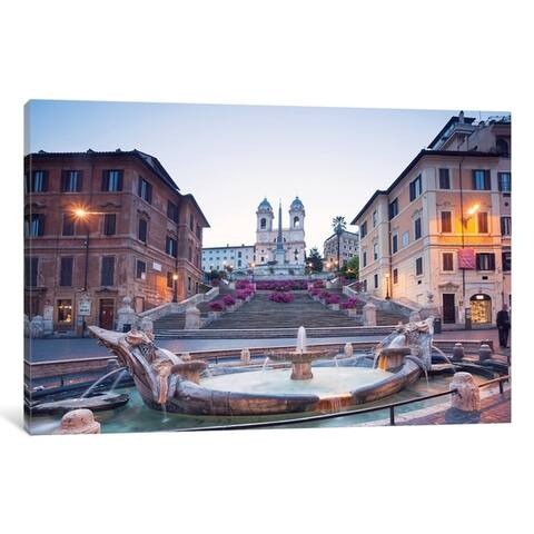 "iCanvas ""Spanish Steps, Rome"" by Matteo Colombo Canvas Print"