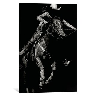"""iCanvas """"Scratchboard Rodeo IV"""" by Julie T. Chapman Canvas Print (More options available)"""