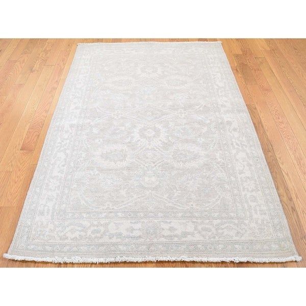 Shop Beige Wool Hand Knotted Oriental Persian Area Rug 6: Shop Hand Knotted Beige Oushak And Peshawar With Wool