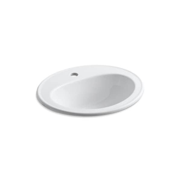 Pennington Single Faucet Hole Drop-in Bathroom Sink