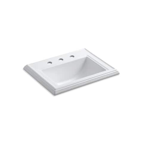 Memoirs Classic 8-inch Widespread Faucet Holes Drop-in Bathroom Sink