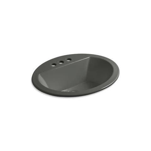 Bryant Thunder Grey Drop-in Oval Bathroom Sink